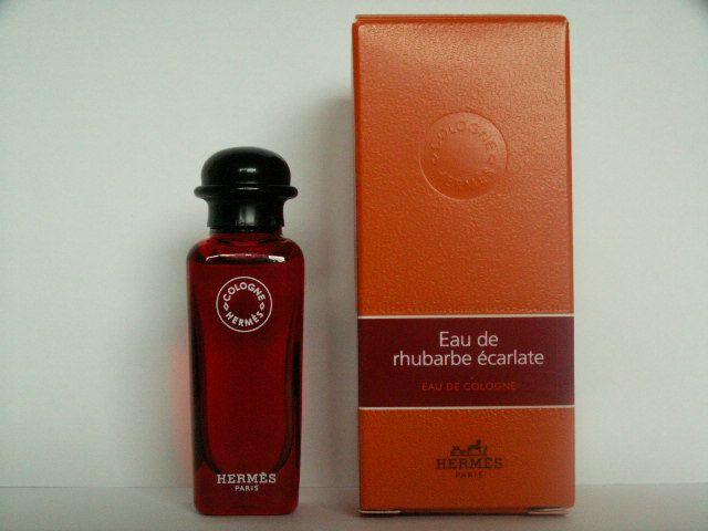 Miniatures De Parfum De Collection Hermès Eau De Rhubarbe écalate